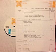 RADIO SHOW: 7/7/87 TODAY '68: RICHARD HARRIS, STATUS QUO, DONOVAN, MERILEE RUSH
