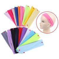 2pcs Multicolor Stretch Sport Headband Button Headband Yoga Fitness Hair band MW