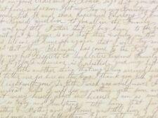 RPFMo06D Graphic Cursive Writing Letter Longhand Script Cotton Quilt Fabric