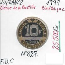 10 FRANCS GENIE DE LA BASTILLE - 1999 - Monnaie Bimétalique // FDC