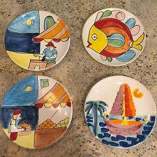 La Musa Pottery Decorative Wall Plates Lot Of 4