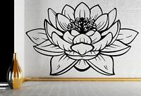 Lotus Flower Buddhia Yoga Studio Meditate Decor Wall Sticker Vinyl Decal (z2906)