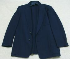Fashion Tailored Dress Suit Jacket Mens Blue Lined Blazer 2 Button 42 Regular