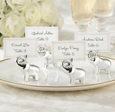 Wedding Kate Aspen Silver-Finish Lucky Elephant Placecard Holders Set Of 44