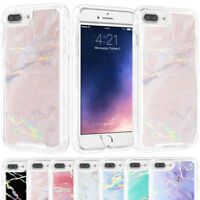 For iPhone X 8 7 6s Plus Case Protective Bumper Silicone Luxury Marble Hard Back