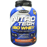 Muscletech Nitro-Tech 100% ISO Whey Protein Isolate 5 lb, 77 Servings CHOCOLATE