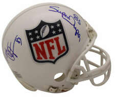 Mark Clayton & Mark Duper Autographed/Signed NFL Shield Mini Helmet SGC 23438