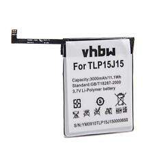 BATTERIA -VHBW- 3000mAh per Wiko Fever, FEVER 4G, TLP15J15