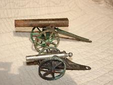 2 Canons SR soldat ancien en plomb creux LR BF guerre 14/18 ww1 tin toy lot 4