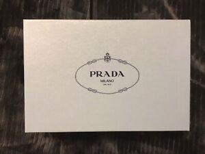 "Prada Shoebox, Light Blue, Empty, 12""x8""x4.25"""