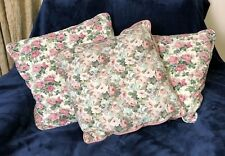 3 Floral Cushions , Hand Made , Pink Roses.