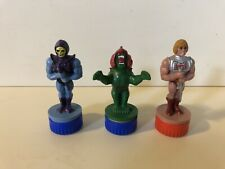 1985 Masters of the Universe He-Man Skeletor Battle Cat Ink Stamps MOTU Mattel