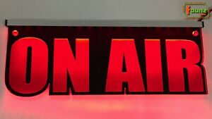 "LED Leuchtschild ""On Air"" Sendung Tonstudio Radio Musik, Farbe + Montage wählbar"