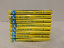 1-8 NANCY DREW Books lot Secret of the Old Clock NANCY'S MYSTERIOUS LETTER FS!!
