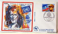 France General de Gaulle Bloc Sheet CNEP on Letter N° 21 FDC