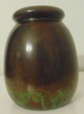 Clewell - Copper On Ceramic Vase, Arts & Crafts Movement, verdigris matte patina