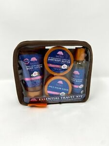 Tree Hut Essential Travel Kit, Moroccan Rose, 4 Items in One Bag, for Nourishing