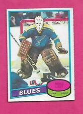 1980-81 OPC # 31 BLUES MIKE LIUT GOALIE ROOKIE EX-MT CARD (INV# D1241)