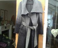 Black/Grey wool coat size 10