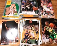 GARY PAYTON RESALE / RC LOT (100) TOTAL CARDS W/  10 1990-91 HOOPS RC