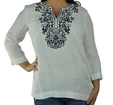 Charter Club Women's 3/4 Sleeve Blouse Large Bright White - Large - Ships FREE