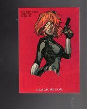 2017 Upper Deck Spiderman Red Precious Metal Gems Black Widow Mm11 card 90/99