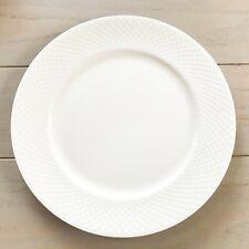 "Mikasa Set 4 Cheers Ellis White Bone China 11"" Dinner Plates New!"