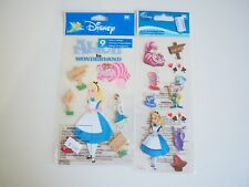 2 Packets of Gorgeous Disney Alice in Wonderland Stickers. Brand New! Bargain!