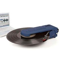 New CROSLEY REVOLUTION BLUE PORTABLE TURNTABLE USB ENCODING HEADPHONE RRP $99