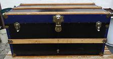 Alter dekorativer Sofatisch Oldtimer Reise Koffer gr. Überseekoffer Reisekoffer