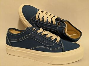 Vans New Old Skool Tapered Eco Theory Indigio Lady Shoes Size USA 7
