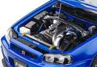 Tuning 1:18 - Skyline GTR R34 Bayside Blue - AUTOart