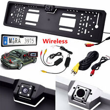 Nightvision 2.4G Wireless Europe License Plate Frame Car Rear View Video Camera