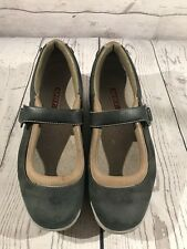 MBT Kaya Nubuck Navy / Tan Leather Mary Jane Shoes Rocker Walking, US 8.5, EU 39