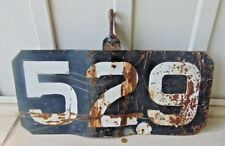 VINTAGE CPR CANADIAN NATIONAL RAILROAD NUMBERED METAL PLATE, SIGN, LOCOMOTIVE?