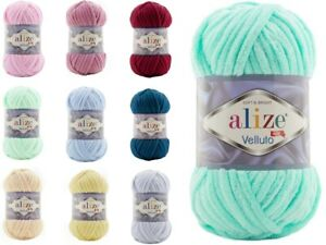 ALIZE VELLUTO Wolle Chenille Garn Chunky Samtig 100g LL 68m (Farbauswahl)