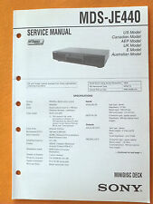 Sony MDS-JE440 Service Manual (original) Used
