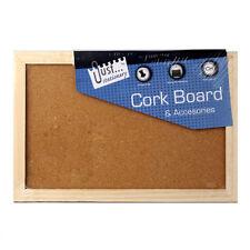Cork Bulletin Board (with Tracking) Hang Wall Wood Various Purposes Memo Photo