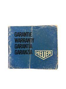 Heuer Warranty Guarantee Papers Blank/ Open 1970s