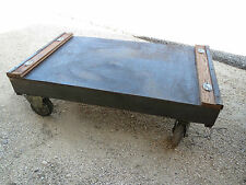 ancienne table basse  / loft/atelier/industrielle usine french antique brocante