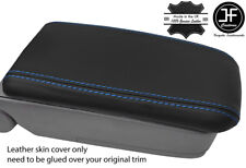 BLUE STITCH REAL LEATHER ARMREST LID COVER FITS SUBARU FORESTER SG9 2006-2008