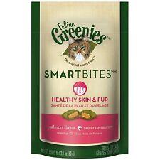 FELINE GREENIES SMARTBITES Cat Treats Skin & Fur Salmon Flavor New
