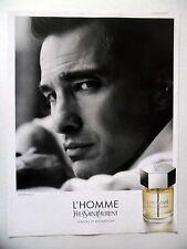 PUBLICITE-ADVERTISING :  Yves SAINT-LAURENT L'Homme Olivier Martinez 2014 Parfum
