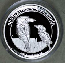 Australia 2017 1 Dollar Kookaburra Proof High Relief 1 Ounce  Silver Coin