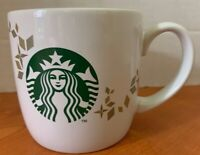 Starbucks Coffee / Tea Mug Cup 14 oz White Mermaid Logo 2013 Holiday Collection
