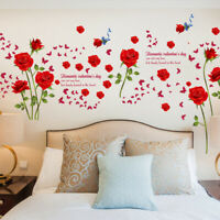 Rose Wall Decal Mural Removable Flowers Wall Stickers Vinyl Art Home Decor
