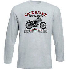 VINTAGE ITALIAN MOTORCYCLE BENELLI CAFE RACER - NEW COTTON T-SHIRT
