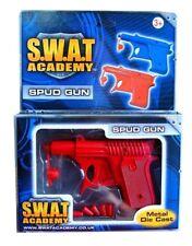 S.W.A.T Mission Spud Gun Metal Die Cast Kids Hero Role Play Pistol Toy Gun