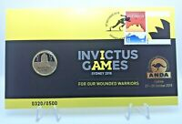 2018 $1 UNC Coloured Frosted Coin Invictus Games Sydney ANDA PNC Braille