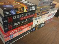 Lot of 10 Ken Follett CENTURY KINGSBRIDGE Vintage Paperback PB *RANDOM* Book MIX